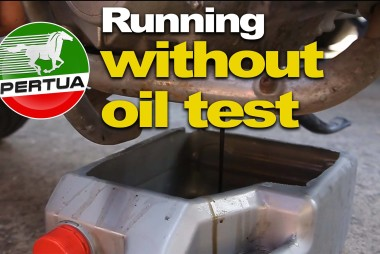motorcycle running without oil test
